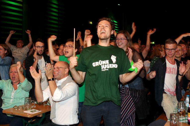 Vreugde bij de Groenen... Beeld Getty Images