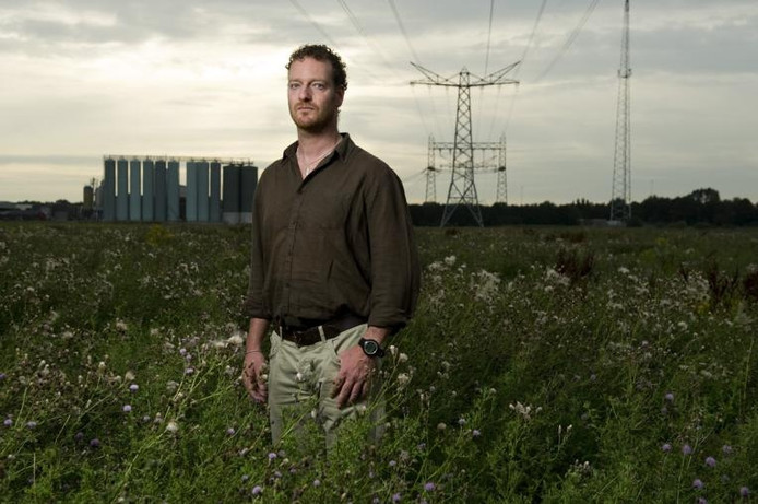 Stadsecoloog Johan Mees in de Diezemonding. foto Roy Lazet