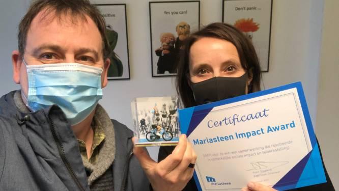 Hooglede krijgt Impact-award van maatwerkbedrijf Mariasteen