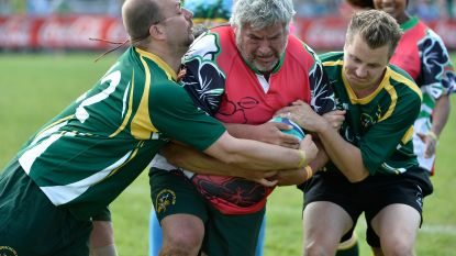 Klank- en cameraman Pascal Braeckman peter van Flanders Open Rugby