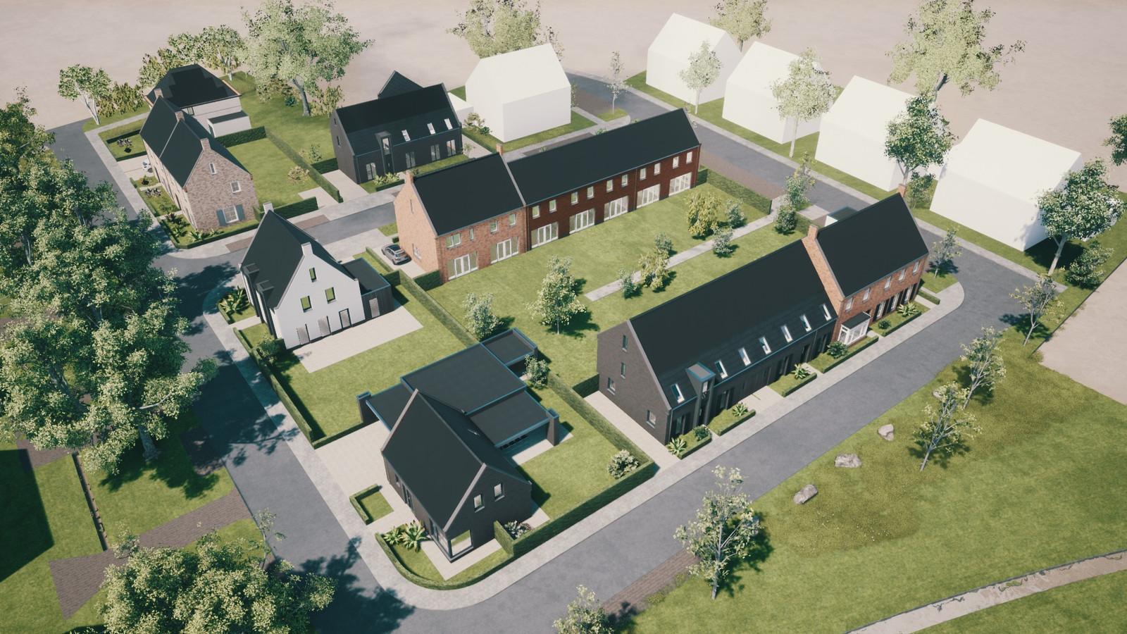 Artist impression van de 20 nieuwe woningen van project CPO Toekomstig Wonen in Chaam.