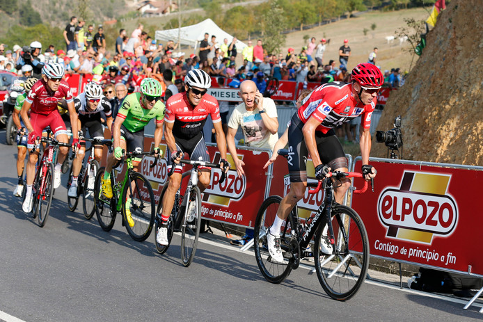 Wielrenners in de Vuelta