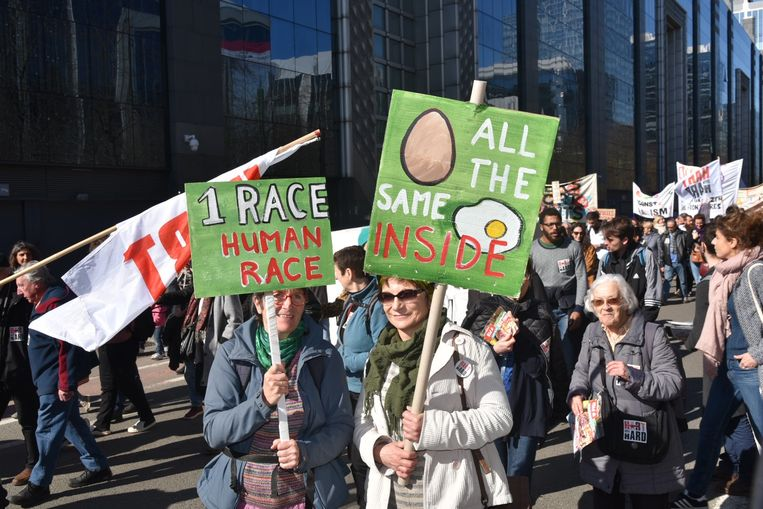 Manifestatie tegen racisme