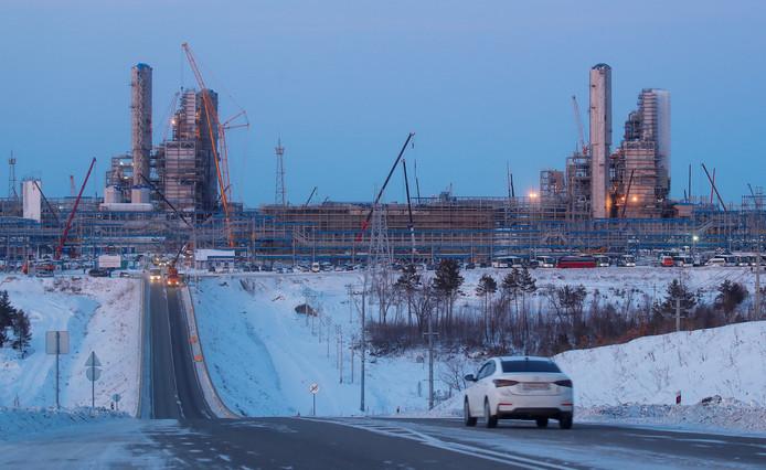 """Le gazoduc """"Power of Siberia"""" connecte, via plus de 2.000 kilomètres de tuyaux, les gisements de Sibérie orientale à la frontière chinoise. A terme, le réseau dans son ensemble sera long de plus 3.000 kilomètres."""