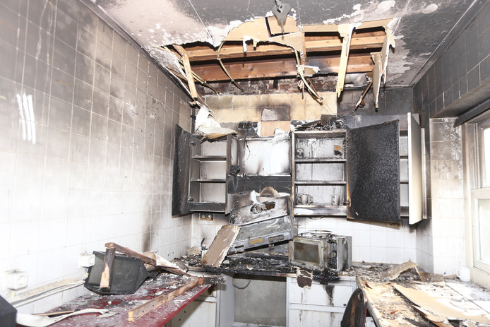 De keuken van het pand op landgoed Haarendael brandde volledig uit.