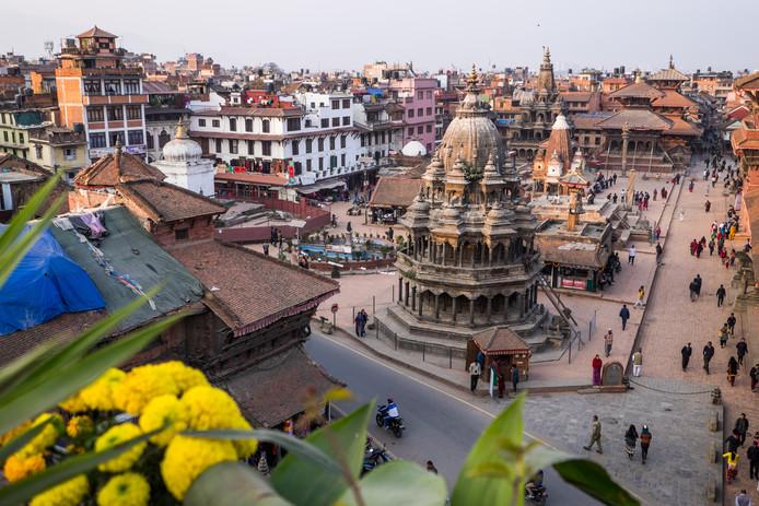 De Nepalese hoofdstad Kathmandu.
