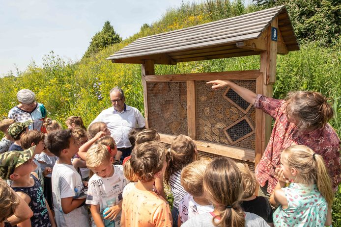 Opening van een natuurgebiedje met bijenhotel in de wijk Mannee in Goes, vorig jaar.