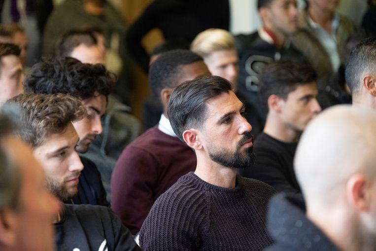 Ook de spelers van Beerschot Wilrijk waren aanwezig. Hier Hernan Losada