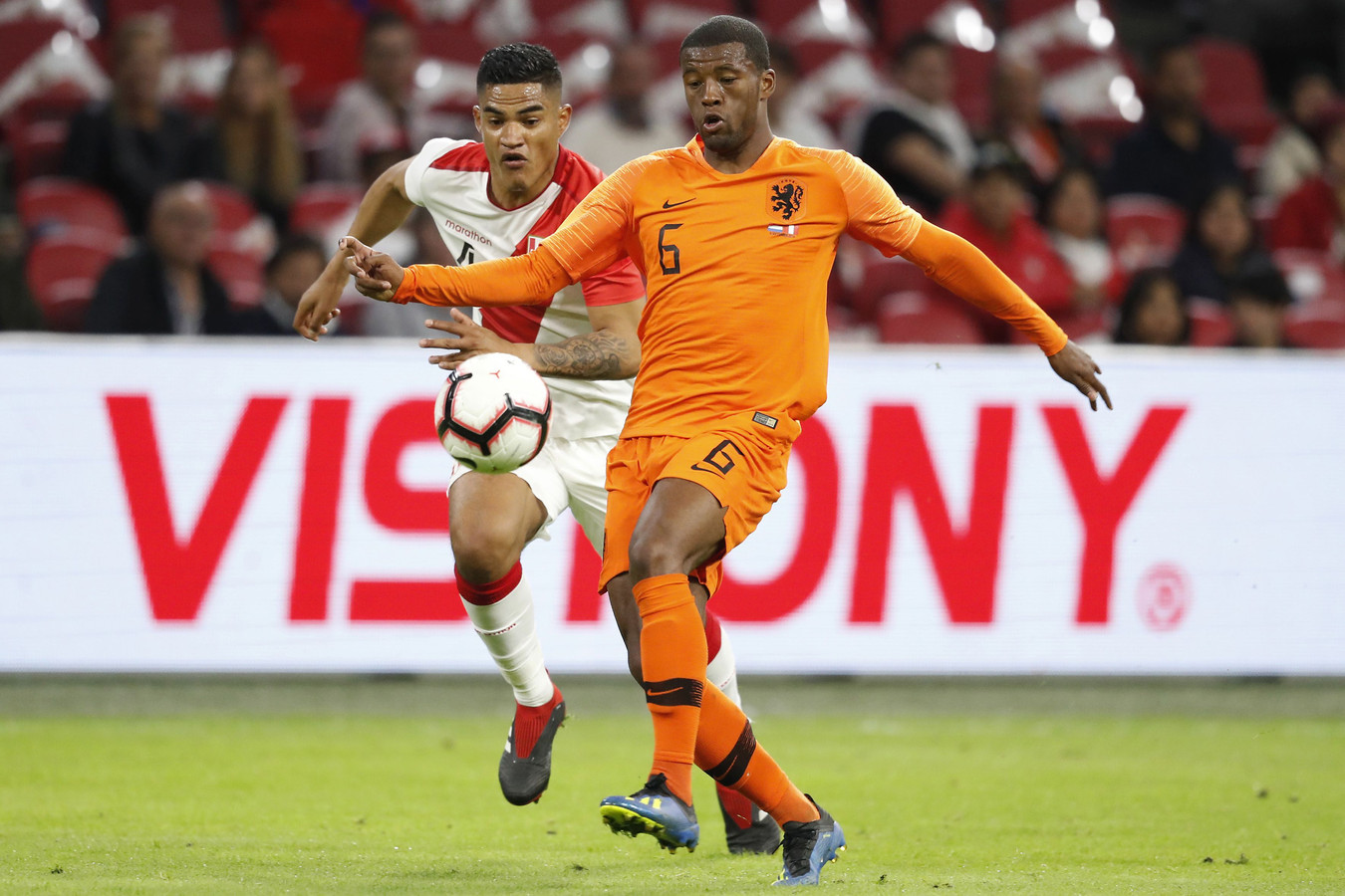 Georginio Wijnaldum during the friendly match Netherlands.