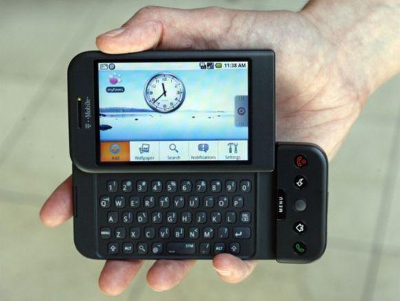 De HTC Dream: de eerste smartphone met het besturingssysteem Android.