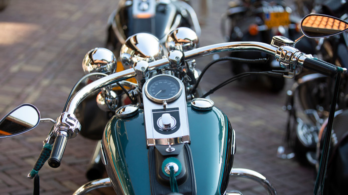 Rijders van Harley Davidson Heritage Springers rijden dit weekeinde met hun 'bikes' door de regio.