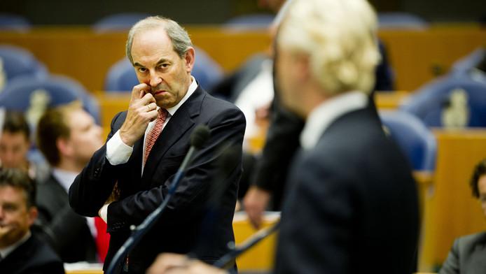 Wilders (r) en Cohen in de Tweede Kamer.