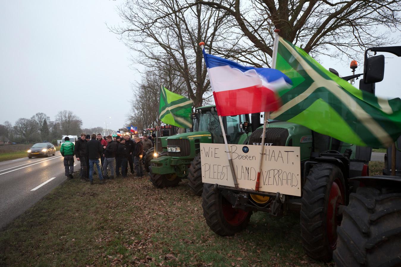 Actie van de boeren bij Varsseveld.