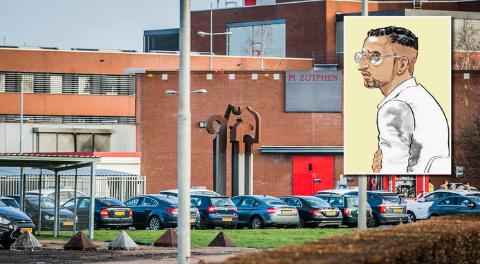 De gevangenis in Zutphen. Kader: Omar L.