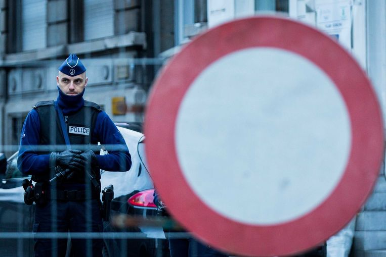 Anti-terreuroperatie in het Belgische Verviers, januari vorig jaar. Beeld anp