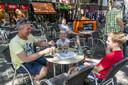 De terrassen in Breda zijn weer open.