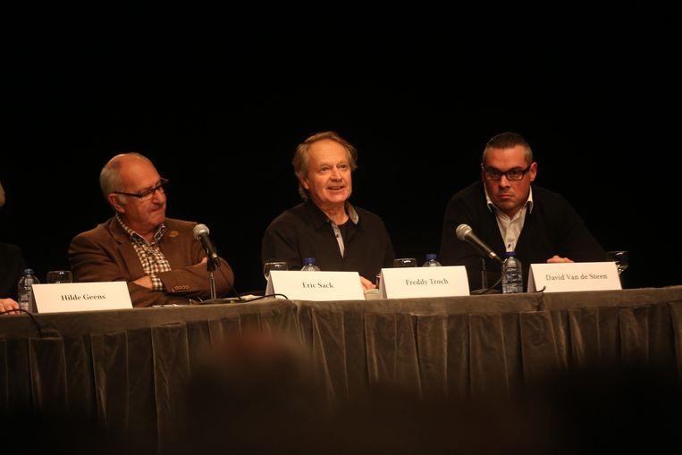 Rijkswachtcommandant Eric Sack, gewezen onderzoeksrechter Freddy Troch en David Van de Steen, die de aanslag in 1985 meemaakte.