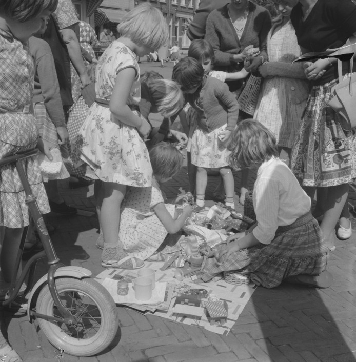 De Kindermarkt in 1960.