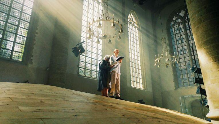 Repetitie van Een nieuwe god, geschreven door Heleen Verburg en uitgevoerd door Theaterproductiehuis Zeelandia. Beeld