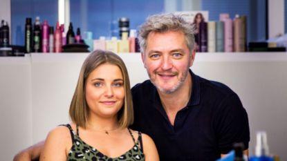 """Kürt Rogiers knipt voor het eerst het haar van een echt model: """"Ik heb gelukkig niet in haar oren geknipt"""""""