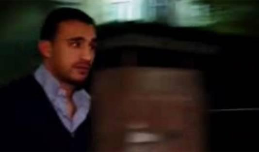 Badr Hari bij zijn arrestatie vanavond.