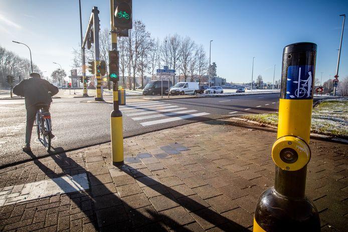 De fietsknoppen aan N80 in Sint-Truiden werken niet naar behoren.