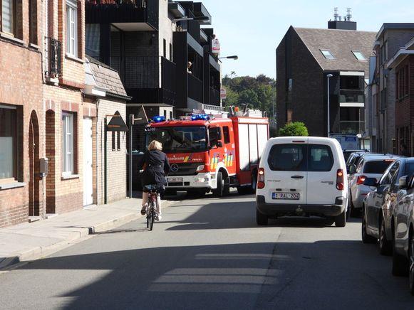 De brandweer moest de vrouw uit haar benarde positie bevrijden.