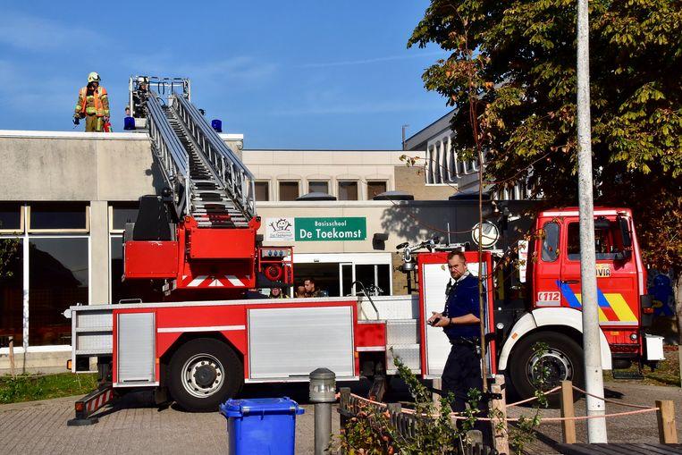 De schoolkeuken werd midden oktober 2018 door een brand getroffen.