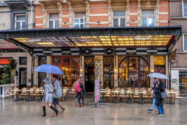 De vernieuwde Brasserie Falstaff. Het interieur is een creatie van Victor Horta.