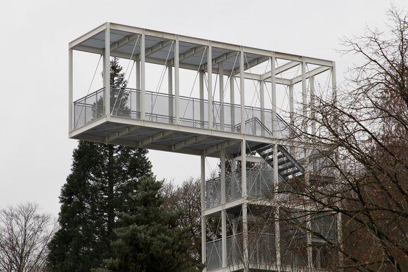 Eeklo zicht op de nieuwe uitkijktoren in provinciaal domein Het Leen
