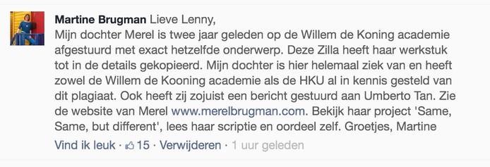 De moeder van Merel reageerde op op Facebook: 'Mijn dochter is hier helemaal ziek van'