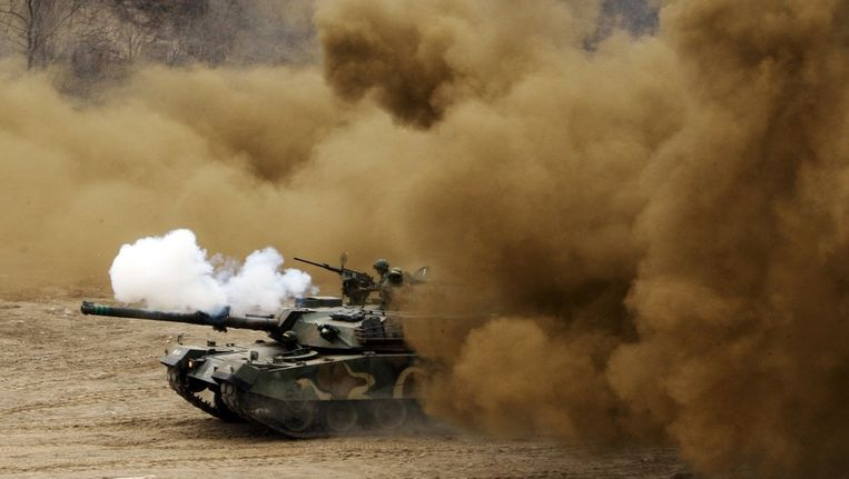 Zuid-Koreaanse troepen nemen deel aan militaire oefeningen Beeld reuters