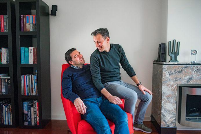 Robert van Asten en zijn partner Michiel Lemmens.