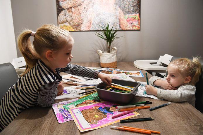 Bij jonge kinderen draait kleuren meer om de handeling dan om de kleur zelf.