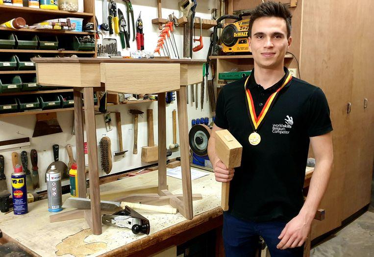 Robbe Meyvis, Belgisch kampioen meubelmaken