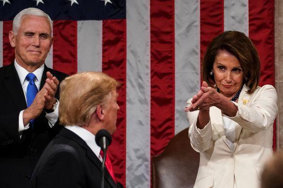 Pelosi bij de vorige State of the Union in 2019.