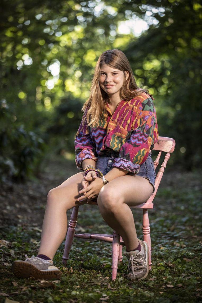 Tita, de dochter van Joke Devynck en Johan Heldenbergh