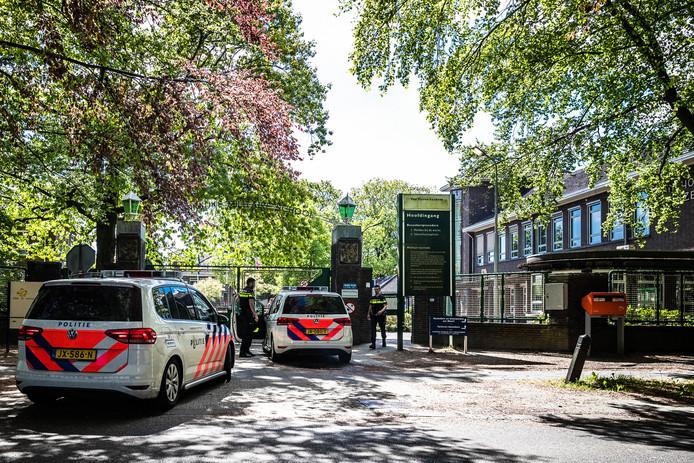 Foto's van een eerder incident bij de opvanglocatie in Weert.