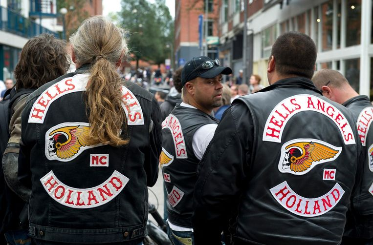 Leden van de motorclub Hells Angels. Beeld anp