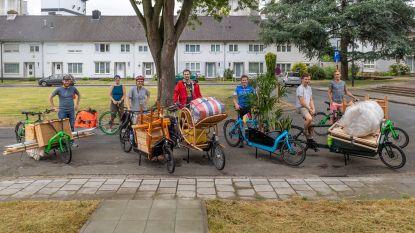 """Lander Wantens (Groen) helpt verhuizen met bakfiets: """"Origineel en CO2-neutraal"""""""