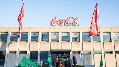 Vakbonden voeren actie aan Coca-Cola Hasselt