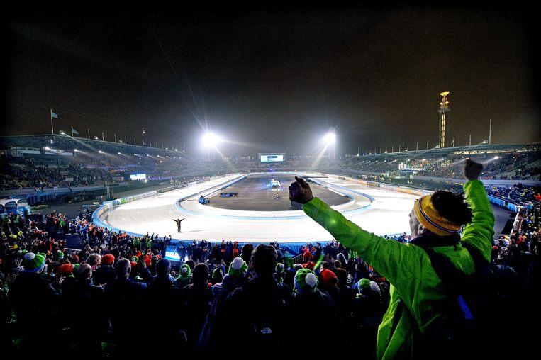 De 'Coolste Baan van Nederland' in het Olympisch Stadion in Amsterdam. Beeld Klaas Jan van der Weij