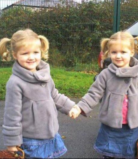 Megan (11) heeft kankersymptomen,  maar haar identieke tweelingzus blijkt ziek