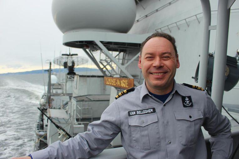 Bruggeling Kristof Van Belleghem voert het commando op het fregat.