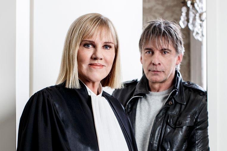 Politierechter Mireille Schreurs en Luk Alloo.