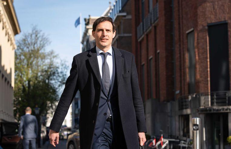 Minister Wopke Hoekstra (financiën) in Den Haag. Beeld ANP