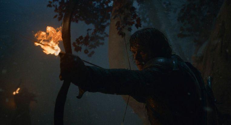 Theon vecht quasi in zijn eentje tegen de Wights en de White Walkers.