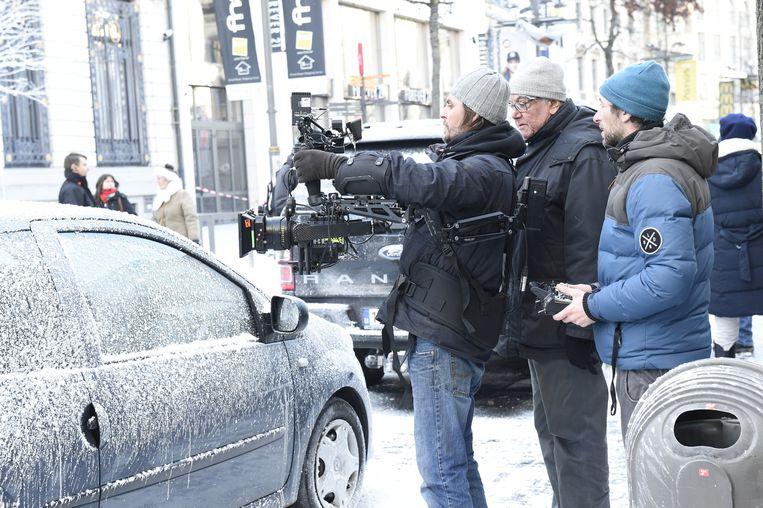 Ook op de Meir vonden gisteren opnames voor de film 'The Toy Gun' plaats.