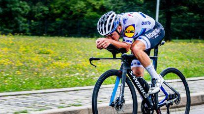 """Evenepoel verkent tijd- en bergrit Giro: """"Parcours is zwaar, maar deze verkenning zal nuttig zijn in oktober"""""""