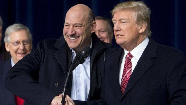 President Donald Trump en voormalig economisch adviseur Gary Cohn Beeld afp